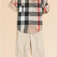 Baju Anak - Burberry Brown Set (BO-416)