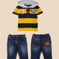 Baju Anak - Stripped Set Yellow (BO-410)