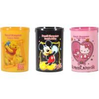 Rautan Pensil 2 Lubang Winnie The Pooh Mickey Hello Kitty Doraemon