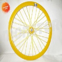 PROMO Wheelset Origin 8 Hub Novatec 32H rear Yellow