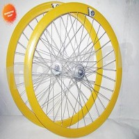 PROMO 1 set Wheelset Origin 8 Hub Rh+O 32H Yellow/Silver