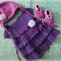 harga baby set/baju bayi rajut/topi rajut Tokopedia.com