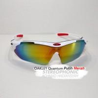 Oakley Quantum KW Super Terbaik Termurahh - White Red Glossy