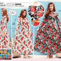harga Cb - 0996 Maxi Dress Katun Stretch Motif Flower By Clara Belle Tokopedia.com