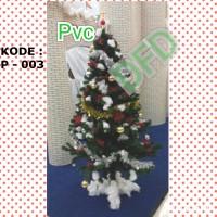 Jual Pohon Natal Tinggi : 1,5 Meter PVC Tebal ( Kode : P-003 ) Murah