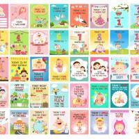Milestone Baby Card Girl