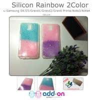 Case Samsung Galaxy Grand Prime Rainbow 2 Color Silicon