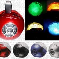 COLOR BALL SPEAKER BLUETOOTH WIRELESS FLASHDISK MAGIC LAMPU LIGHT IMUT