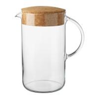 IKEA 365+ Pitcher / Karafe / Container Minum Tertutup, 1.5 L, Kaca