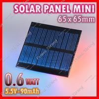 Mini Solar Panel Cell 5.5V 90mA 0.6W Phone Charger Baterai Lithium