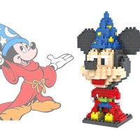Loz Large Nanoblock Lego Mickey Fantasia Wizard Magician Costume