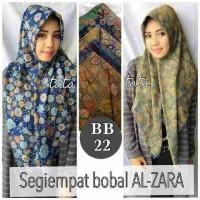 Hijab motif bunga2 segi empat bolak balik