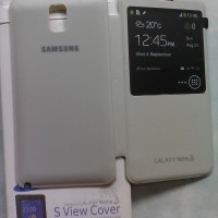 flip cover case view samsung galaxy note 3 original
