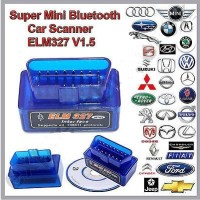 ELM327 Super Mini OBD OBD2 V1.5 Bluetooth Car Scanner Alat Scan Mobil