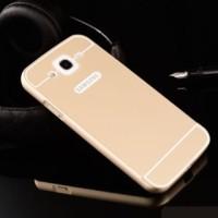 Casing Samsung Galaxy Mega 5.8 Bumper Metal + Back Cover Acrylic