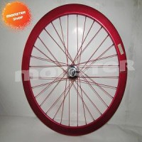 PROMO wheel Set H+Son SV43 Eero Hub Miche 32H Front Red/Black