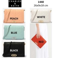 Harga charles and keith original turn lock crossbody bag | Pembandingharga.com