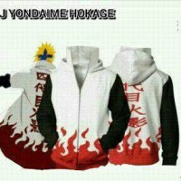 Jaket Naruto Yondaime Putih Merah