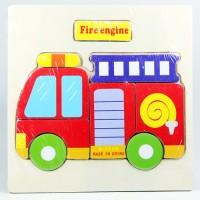 Puzzle Jigsaw Kayu 3D Mainan Edukasi Anak Balita Mobil PMK PK-073