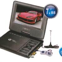 "Dvd Layar Portable Tori 8"" In Support Tv Ch 100% Original"