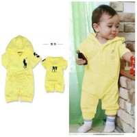fashion jumper baby romper yellow polo ralph laure