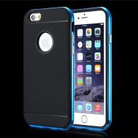 """Spigen Neo Hybrid Metal Frame Case Iphone 6 4.7"""" - Biru Metalik"""