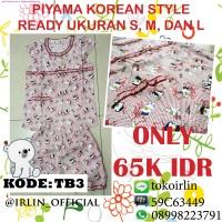 harga Baju Tidur Piyama Korea Teddy Bear Merah Red Lucu Korean Style Tokopedia.com