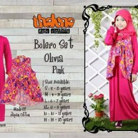 Bolero Set Olivia Thaluna/Baju Muslim Dress anak SD