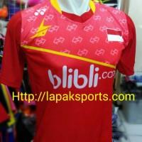 harga Kaos Bulutangkis Yonex 60 Lokal Merah Tokopedia.com