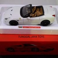 diecast miniatur mobil BBurago Ferrari california T(open Top)