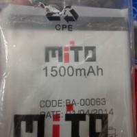 Baterai Mito Fantasy Text A500 Ba-00063 Original 100% Copotan 1500mah
