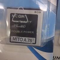 baterai baterei batrei dobel power mcom mito a78 imo s78 glory 3800mah