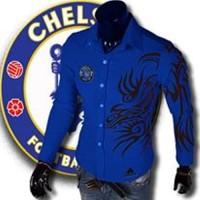 KEMEJA CLUB BOLA CHELSEA BLUE