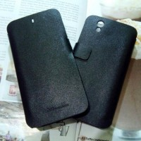 harga FLIPCASE BLACK TEFLON NEXIAN JOURNEY ANDROID ONE HARDCASE SOFT CASE Tokopedia.com