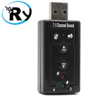 USB 2.0 to Virtual 7.1 Channel Audio Sound Card Adapter CM108 Chipset