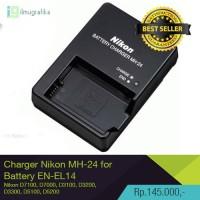 Charger DSLR Nikon MH-24 untuk Baterai Nikon EN-EL14 D3100 D3200 D5100