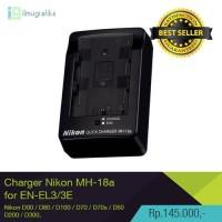 Charger DSLR Nikon MH-18a Baterai Nikon EN-EL3e D200, D300, D90, D70