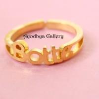 Cincin Nama Lapis Emas - Perhiasan Nama Lapis Emas - Cincin Custom