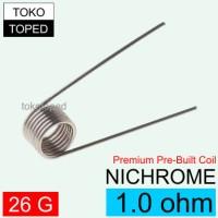 Nichrome Pre-Built Coil 1.0 ohm | nikrom rda rba non kanthal kantal