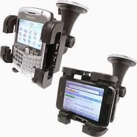 HOLDER BRAKET HP TABLET GPS PADA KACA MOBIL DOUBLE KNOP SISTEM