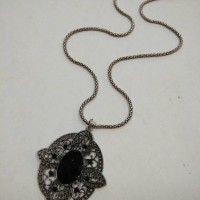 Kalung vintage onix perak bakar - 06