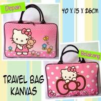 Tas Travel Bag Koper Kanvas Renang Kotak Anak Hello Kitty