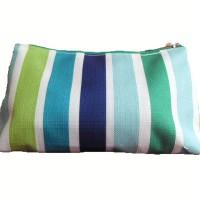 Clinique pouch Cosmetic hijau+ putih+ Biru