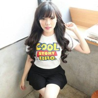 "Tumblr Tee / T-shirt / Kaos ""Cool Story Bro"" in White"