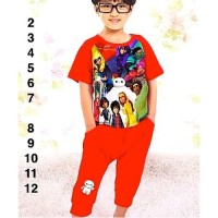 Baju Anak Laki-laki Import Piyama Max Hero Merah 13809 J2 831