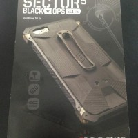 CASING ELEMENT SECTOR BLACK OPS ELITE IPHONE 5/5S AKSESORIS ANTI SHOCK