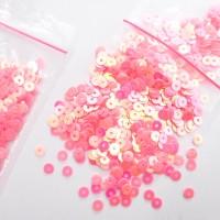 harga 1b006nr Flat Sequins 4mm Pink Candy Bunglon Payet Datar Good Quality Tokopedia.com