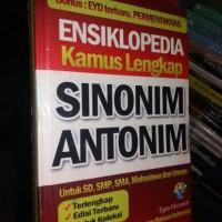 ensiklopedia kamus lengkap sinonim dan antonim