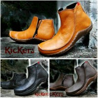 kickers boot sleting kulit asli