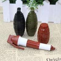 pulpen ballpoint bolpen bolpoin ballpen pen bentuk granat grenade